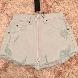 Carmar (LF) mint green denim skirt